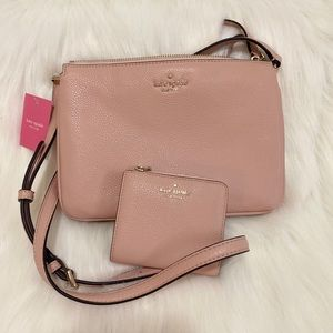 KATE SPADE TRIPPLE GUSSET CROSSBODY with wallet